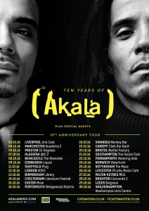 Drumming on 'Ten Years of Akala' Tour 2016